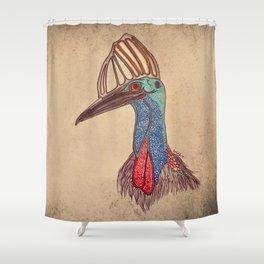 Cassowary Shower Curtain