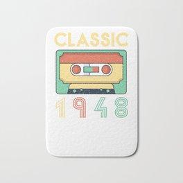 Classic 1948 Mixtape Cassette Birthday Bath Mat