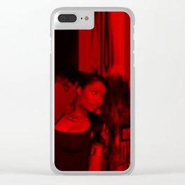 Niccki Minaj - Celebrity (Florescent Color Technique) Clear iPhone Case