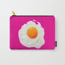 Sunny Side Up Egg on Hot Pink Carry-All Pouch