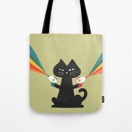 Ray gun cat Tote Bag