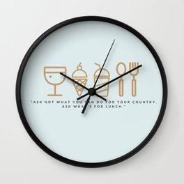 ASK WHAT'S FOR LUNCH Wall Clock