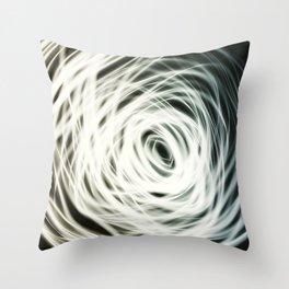 Linear Light Spiral Throw Pillow