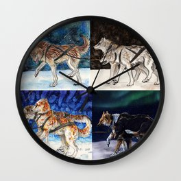 Sleddog Team Wall Clock