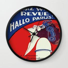 Vintage poster - Yardaz Wereld Revue Wall Clock