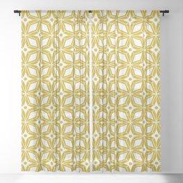 Starburst - Gold Sheer Curtain