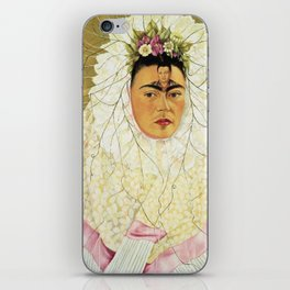 "Frida Kahlo Exhibition Art Poster - ""Diego on my mind"" 1988 iPhone Skin"