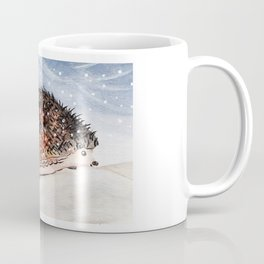Hedgehog Facing Blizzard Coffee Mug