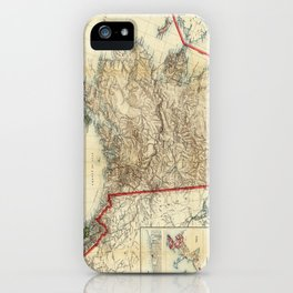 Vintage Map of Alaska (1906) iPhone Case