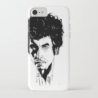bob dylan iPhone & iPod Cases featuring Bob Dylan by Giorgia Ruggeri