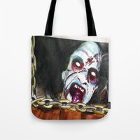 evil dead Tote Bags featuring The Evil Dead  by Christopher Chouinard