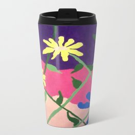 Colorful Flower Abstract Travel Mug