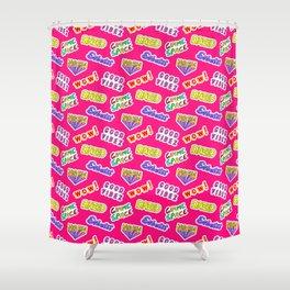Good vibez / Red Shower Curtain