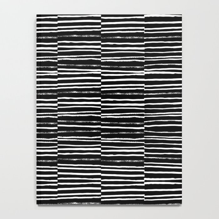 Paint brush free spirit pattern boho minimal black and white modern art abstract painting urban deco Notebook