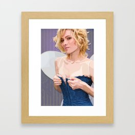 the feisty faerie dares you to look away Framed Art Print