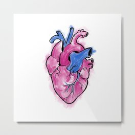 Naturalistic heart valentine's day Metal Print
