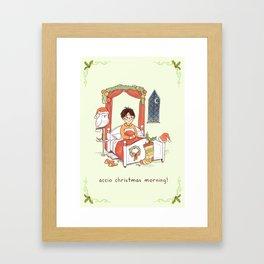 Accio Christmas Morning! Framed Art Print