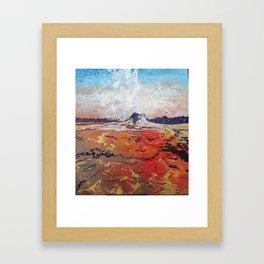 Lone Star Geyser Framed Art Print