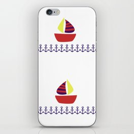 boats and anchors iPhone Skin