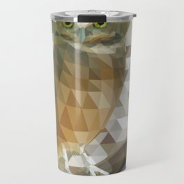Burrowing Owl - Low Poly Technique Travel Mug