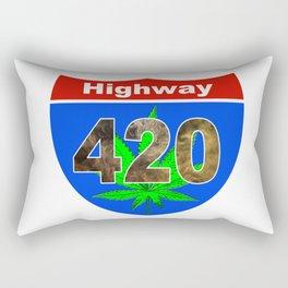 Highway 420... Up in Smoke Rectangular Pillow