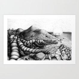 The Merger Art Print