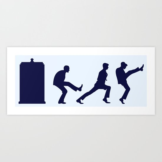 The Tardis of Silly Walks Art Print