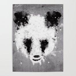 panda paint Poster