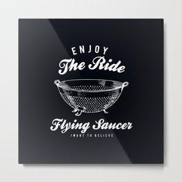 Flying Saucer Metal Print