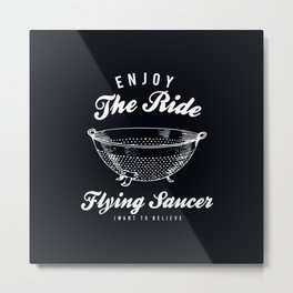Flying Saucer Metal Print