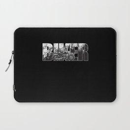 Biker - Motorcycle Rider Design Laptop Sleeve