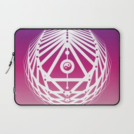 Radiant Abundance (warm purple-white) Laptop Sleeve