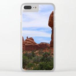 Balanced Rock Clear iPhone Case