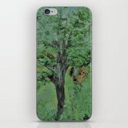 Palette Knife Tree on Wood iPhone Skin