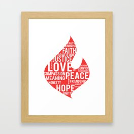 Fire flame and virtues Framed Art Print