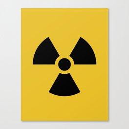 Radiation Hazard Symbol Canvas Print