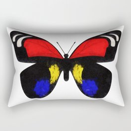Red and Blue Butterfly Rectangular Pillow