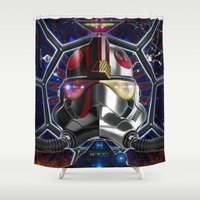 pilot Shower Curtains featuring Bipolar Pilot by Fotoilusionista