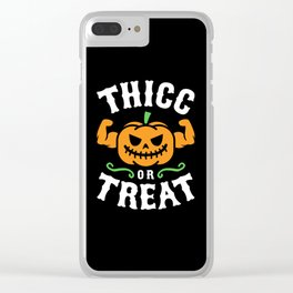 Thicc Or Treat Clear iPhone Case