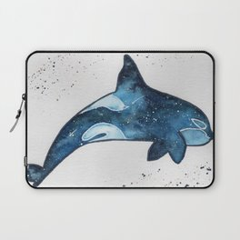 """""""Blue galaxy Orca"""" watercolor painting Laptop Sleeve"""