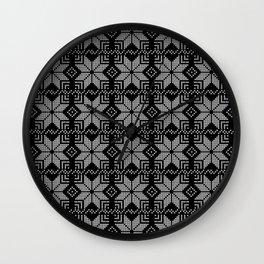Black and gray Christmas ornament. Wall Clock
