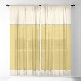 Warm Sunlight Color Block Sheer Curtain