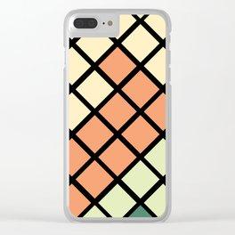 Geometric Mermaid 2 Clear iPhone Case