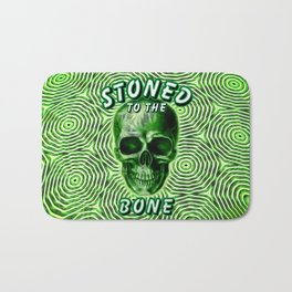 Stoned To The Bone Bath Mat
