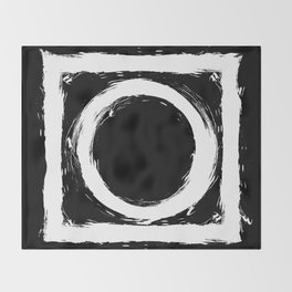 Black and white circle splatter Throw Blanket
