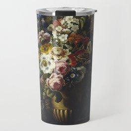Francesc Lacoma Fontanet  -  Gerro Amb Flors Travel Mug