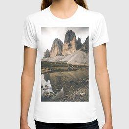 famous Tre Cime in the Dolomites T-shirt