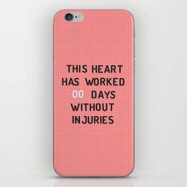 PEG BOARD SAFETY SIGN iPhone Skin