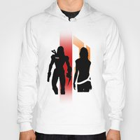 nan lawson Hoodies featuring Commander Shepard and Miranda Lawson by Pixel Design