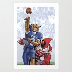 Wildcats versus Cardinals Art Print